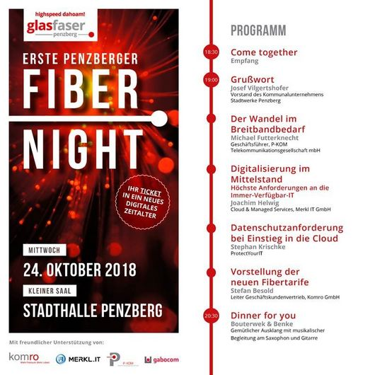 Flyer Fiber Night 2018